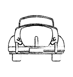 Classic car travel image sketch vector