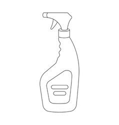 Cleaner spray icon in outline style isolated on vector