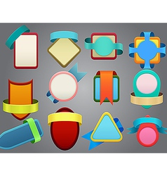 Colorful badges on gray background vector image