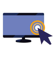 Computer monitor pointer vector