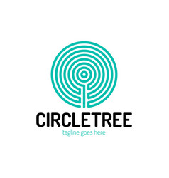 cut a tree in circle shape vector image