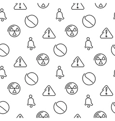 Danger and alarm seamless pattern vector image