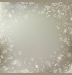 Delicate winter snow background with snow flakes vector