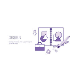 design web graphic creative technology concept vector image