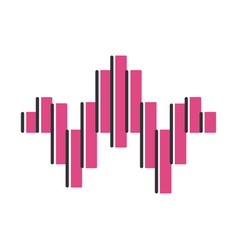 Dj sound pink wave color icon soundtrack playing vector