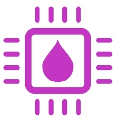 Drop Analysis Chip Icon vector