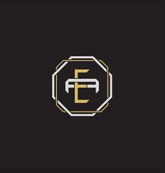 Ea initial letter overlapping interlock logo vector