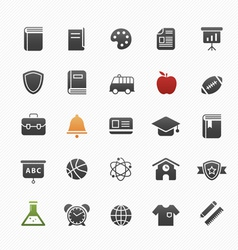 education symbol icon set vector image