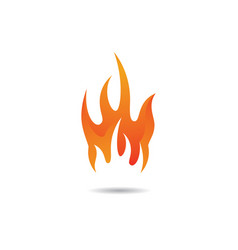 Fire symbol icon vector