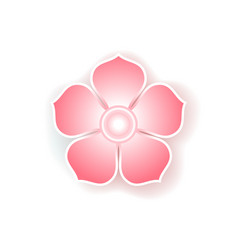 Flat colorful icon of sakura flower vector