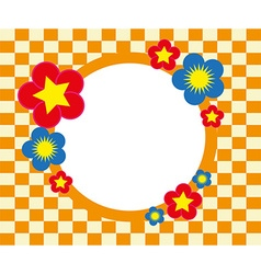 Floral frame background vector image