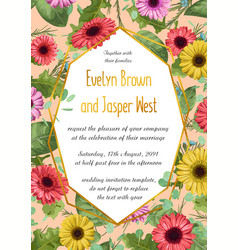 floral of wedding invitation vector image
