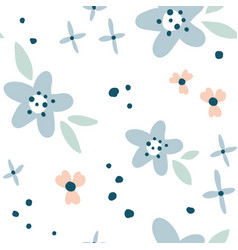 flower simple minimalistic seamless pattern vector image