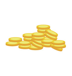 gold coins currency cash money vector image