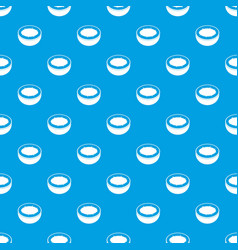 Half of coconut pattern seamless blue vector