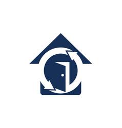 Home protection logo design template vector