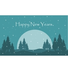 Landscape of Happy New Years collection vector