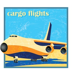 Large cargo plane on takeoff vector