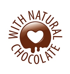 logo chocolate in a heart shape for labels vector image