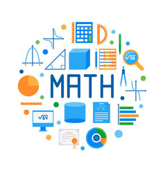 Math round flat modern or vector