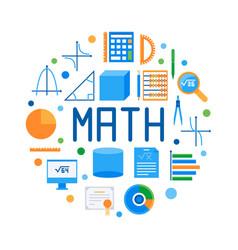 Math round flat modern vector