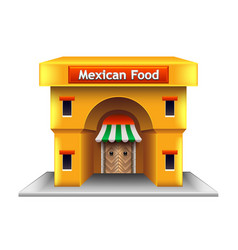 Mexican restaurant isolated on white vector