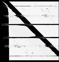 monochrome glitch art background vector image