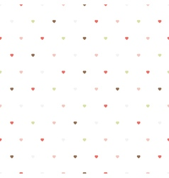 pattern of colorful hearts vector image
