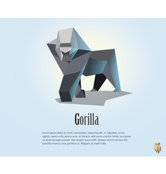 polygonal of gorilla wild animal icon vector image vector image
