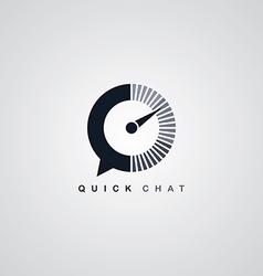 Quick chat speedometer logotype theme vector
