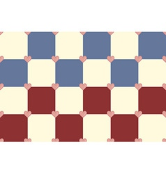 Red blue and yellow hearts pattern vector