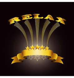 relax ribbon vector image