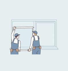 repairing and reconstruction at home concept vector image