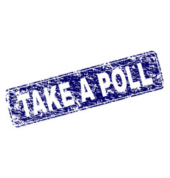 scratched take a poll framed rounded rectangle vector image