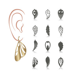 set earrings vector image