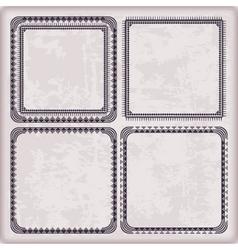 Set frames geometric pattern vector