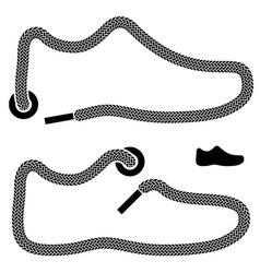 shoelace shoe symbols vector image