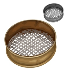 Sieve for sifting flour and other dry substances vector