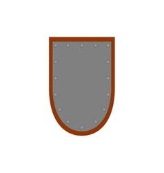 Sign shield silver 2407 vector
