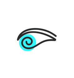 Simple eye blue logo vector