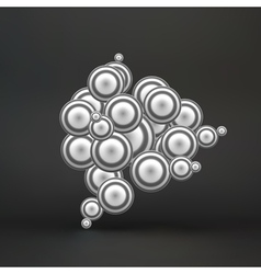Sphere Molecular Structure 3d vector image