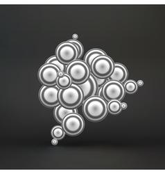 Sphere Molecular Structure 3d vector