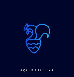 squirrel line art design template vector image