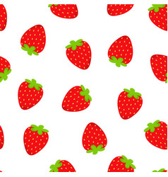 strawberry pattern isolated on white vector image