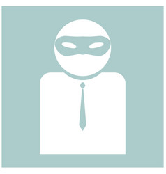 The man incognito in a mask the white color icon vector