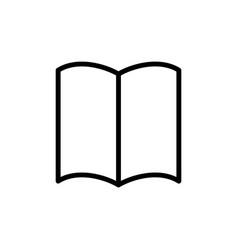 Thin line book magazine icon vector