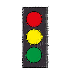 Traffic light sign icon vector