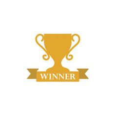 Trophy award winner icon template vector