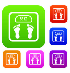 Weight scale set collection vector