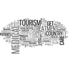 What is medical tourism text word cloud concept vector
